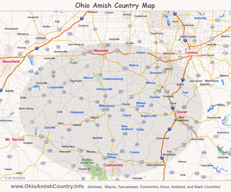 Ohio Amish Country Map Ohio Amish Country | Area Map & Information Ohio Amish Country Map